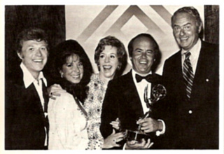 Eydie with Carol Burnett co-stars Steve, Carol Burnett, Tim Conway, and Harvey Korman