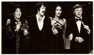 Eydie with Sonny Bono, Cher, and Steve